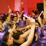 bar mitzvah purple glitter