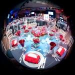 fish eye red table overview