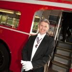 red london bus conductor