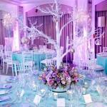 winter wonderland bar mitzvah purple blue