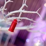 telephone box ornament winter wonderland branches