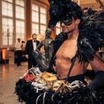 raven man feathers masks