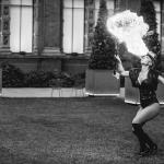 fire breather girl