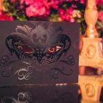 masquerade black matte invitation