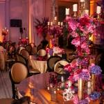 pink purple red twisting centrepieces