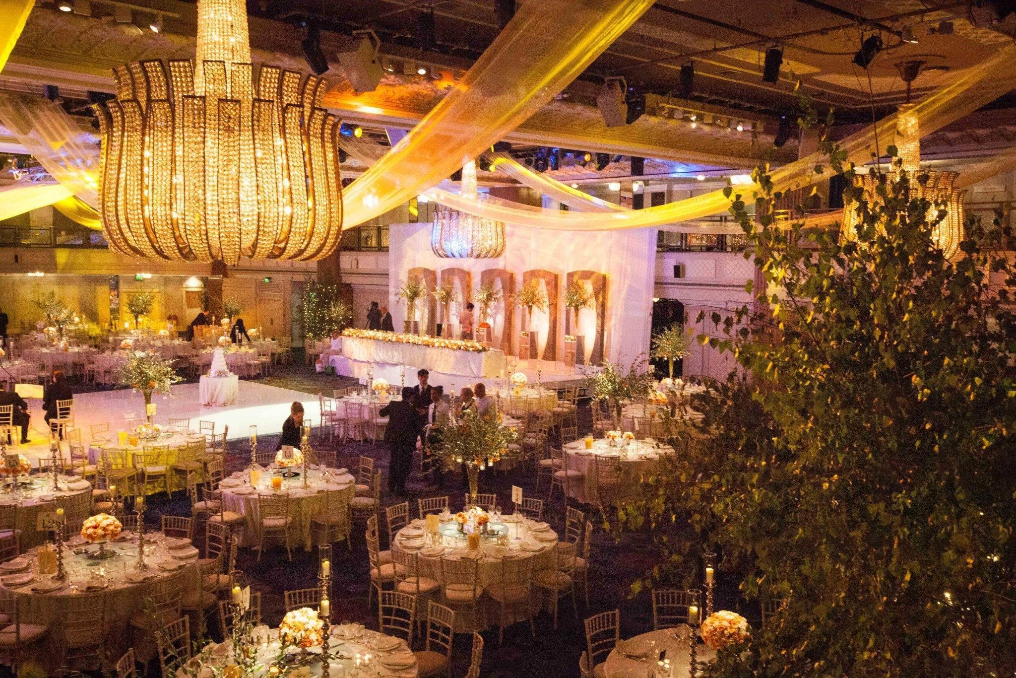 Asian Wedding planner indoor foliage