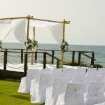 beach ceremony stage
