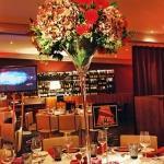 cocktail glass flower arrangement