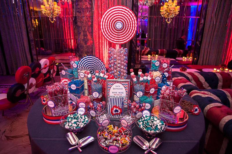 Bar Mitzvah Planning sweet bar candy display