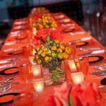orange abbey road table settings