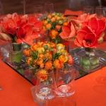 abbey road centrepieces orange short