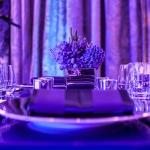 close up table blue