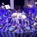 blue and white table 8 party