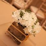rustic wood flower rosemary