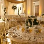 table settings with canape