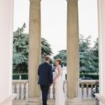 bride and groom pillars