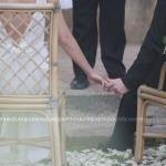 wedding ceremony hold hands