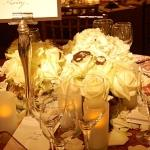 white flower centrepieces