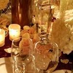 glasses table decoration