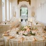 overview wedding tressle table round