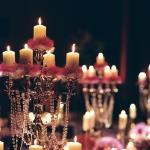 beaded candle centrepiece