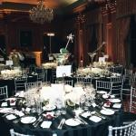 black and white tables