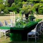 cricket green table flowers