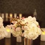 flowers metal pots