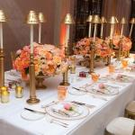 gold gilted tables