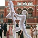 human statues white