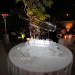 ice sculpture cricket bat