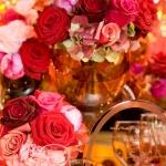red rose table centrepieces