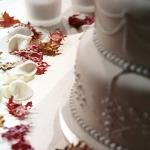 table and cake close up