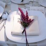 place settings flowers