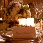 close up name cards landsdowne club