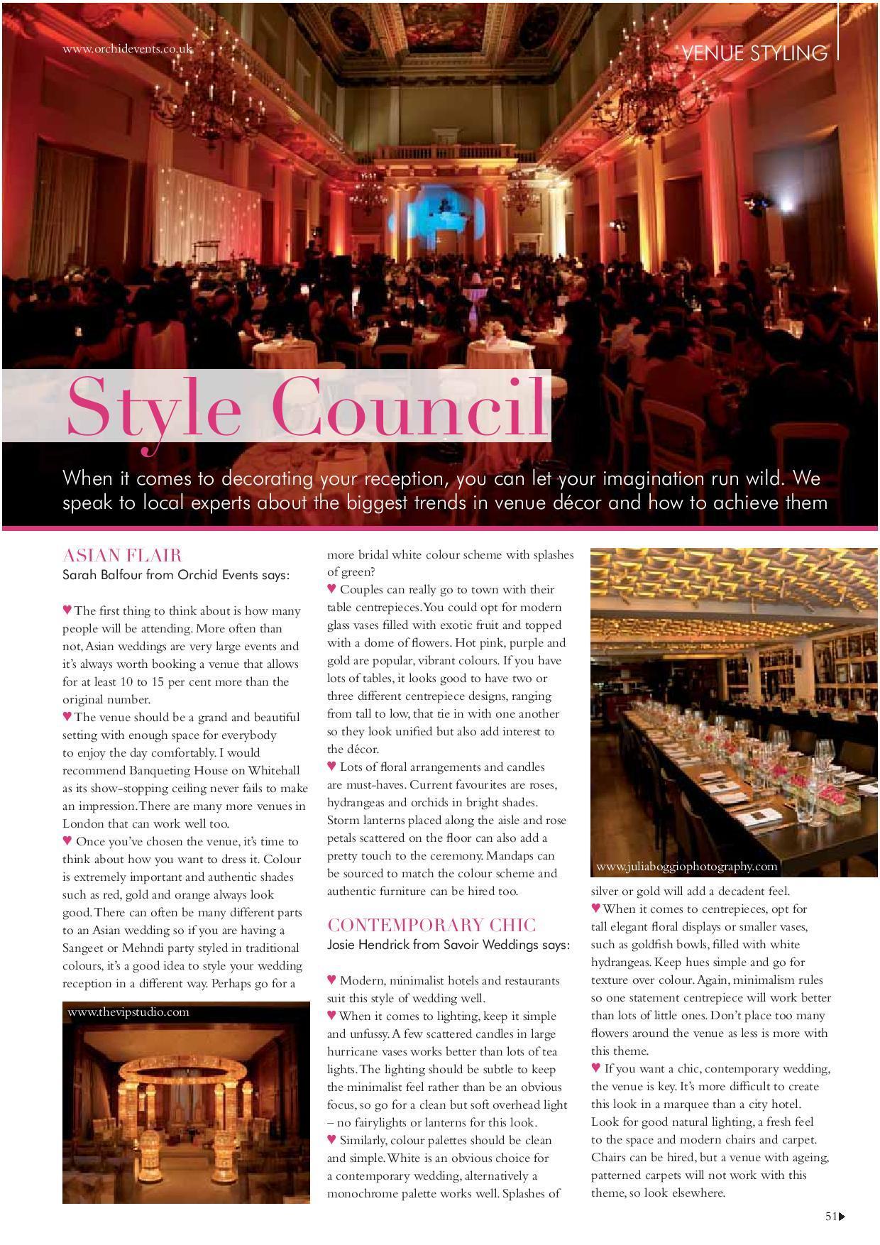 press sarah balfour venue styling