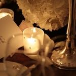 candles and invitations