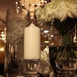 candles flower vases levels