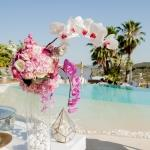 orchid centrepiece pool