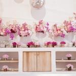 orchid arrangement pebble vases