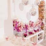 candles orchid arrangement