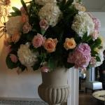 ceramic vase floral arrangement