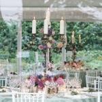 candles and flowers centrepieces