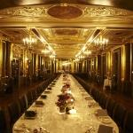 gilted ceiling table setting