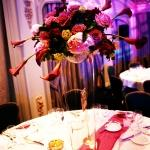 four seasons centrepiece vases flowers