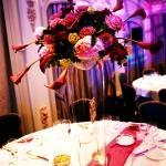 four seasons centrepiece vases flowers
