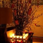 hallway branches candles