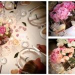 collage table flowers