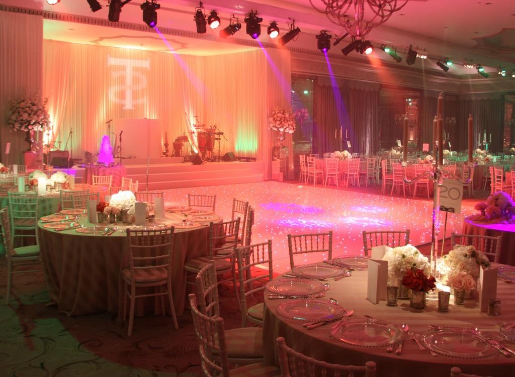 asian wedding dancefloor and table