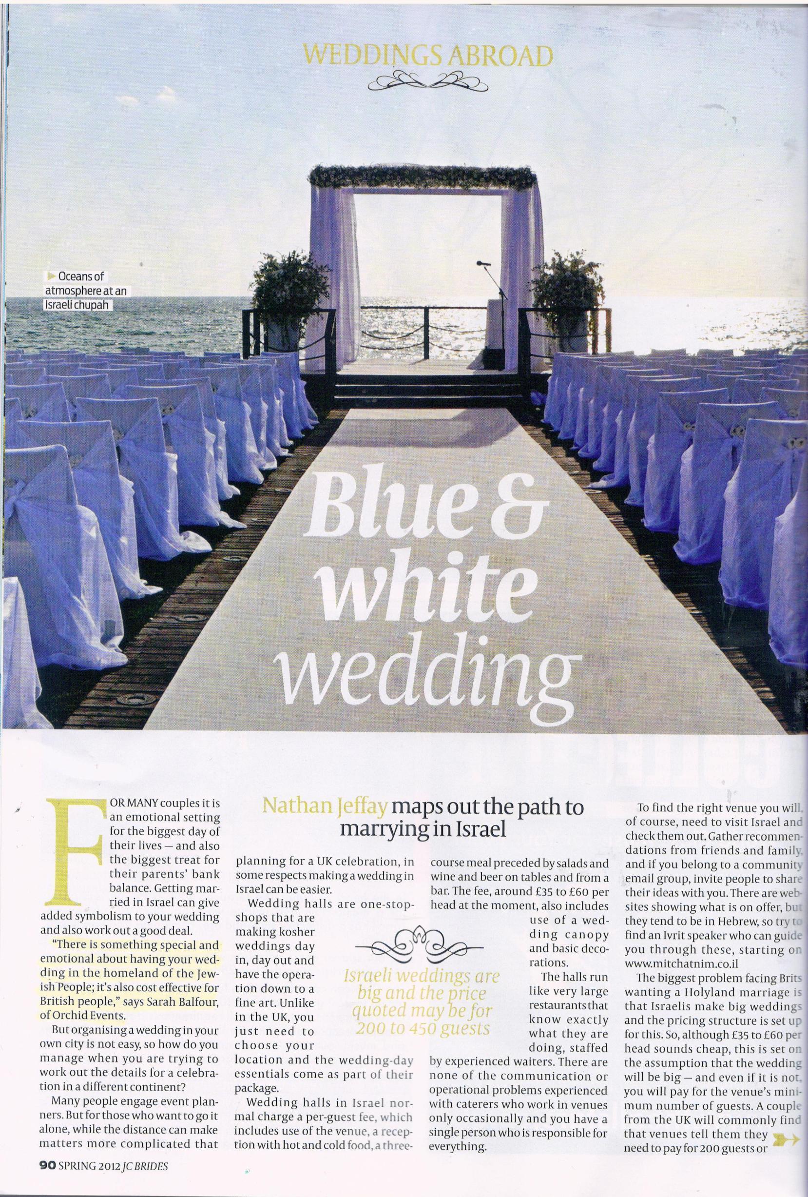 sarah balfour press wedding abroad